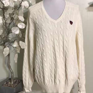 RALPH LAUREN CREAM MEN'S SWEATER